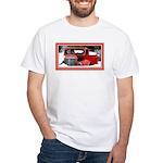 Keeshond - Old Car Christmas White T-Shirt