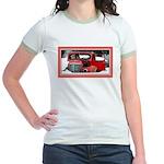 Keeshond - Old Car Christmas Jr. Ringer T-Shirt