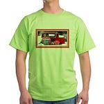 Keeshond - Old Car Christmas Green T-Shirt