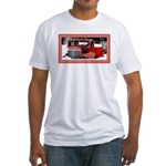 Keeshond - Old Car Christmas Fitted T-Shirt