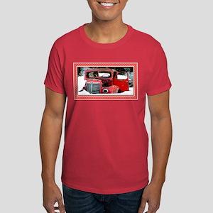 Keeshond - Old Car Christmas Dark T-Shirt