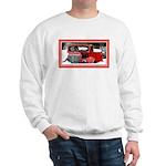 Keeshond - Old Car Christmas Sweatshirt