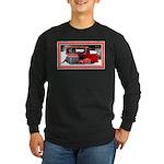 Keeshond - Old Car Christmas Long Sleeve Dark T-Sh