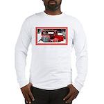 Keeshond - Old Car Christmas Long Sleeve T-Shirt