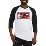 Keeshond - Old Car Christmas Baseball Jersey