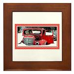 Keeshond - Old Car Christmas Framed Tile