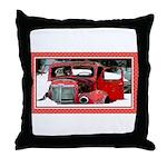 Keeshond - Old Car Christmas Throw Pillow