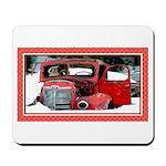 Keeshond - Old Car Christmas Mousepad