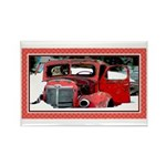 Keeshond - Old Car Christmas Rectangle Magnet (100