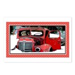 Keeshond - Old Car Christmas Postcards (Package of