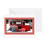 Keeshond - Old Car Christmas Greeting Card