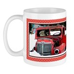 Keeshond - Old Car Christmas Mug