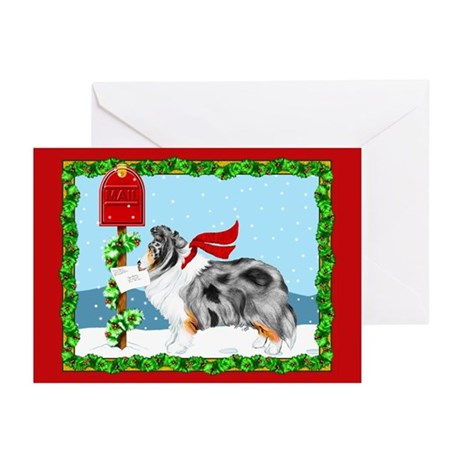 Blue Merle Sheltie Mail Greeting Cards (Pk of 10)
