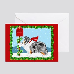 Blue Merle Sheltie Mail Greeting Card