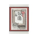 Keeshond - Christmas Rectangle Magnet (10 pack)
