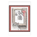 Keeshond - Christmas Postcards (Package of 8)
