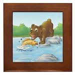 Buster's 'gone fishing' Framed Tile