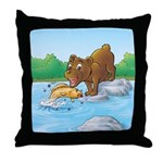 Buster's 'gone fishing' Throw Pillow