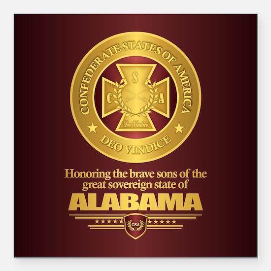 """Alabama SCH Square Car Magnet 3"""" x 3"""""""