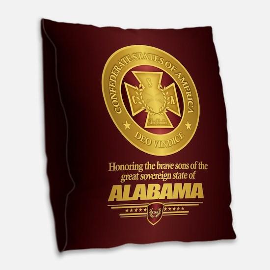 Alabama SCH Burlap Throw Pillow