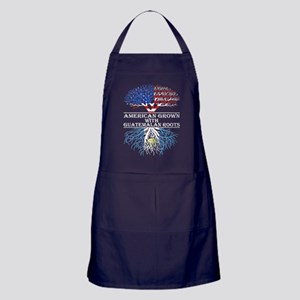 American Grown With Guatemalan Roots Apron (dark)