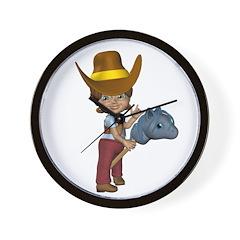 Cowgirl Kit Wall Clock
