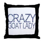 Crazy Goat Lady 2 Throw Pillow