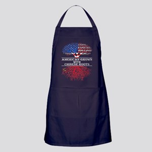 American Grown With Chinese Roots Apron (dark)