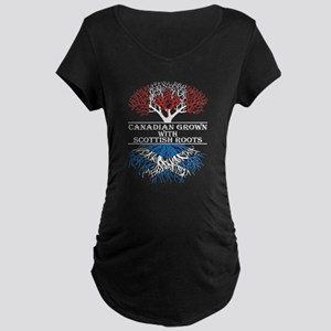 Canadian Grown With Scottish Roo Maternity T-Shirt