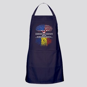 American Grown With Romanian Roots Apron (dark)