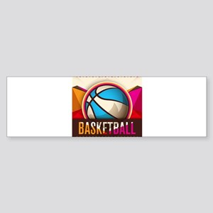 Basketball Sport Ball Game Cool Bumper Sticker