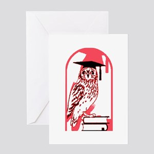 Smart Owl 3 Greeting Card