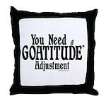 Goatitude Adjustment Throw Pillow