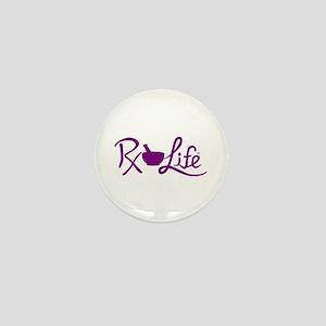 Purple Rx Life Mini Button