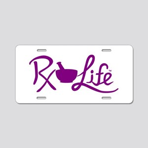 Purple Rx Life Aluminum License Plate