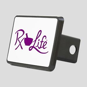 Purple Rx Life Rectangular Hitch Cover