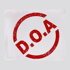 D.O.A Stamp Throw Blanket