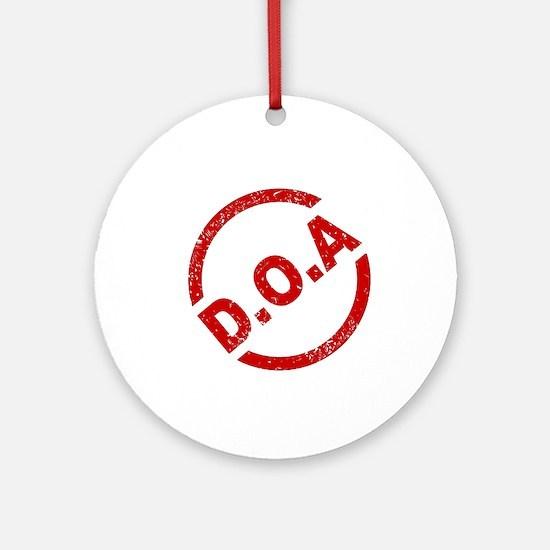 D.O.A Stamp Round Ornament