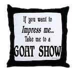 Goat Show Throw Pillow