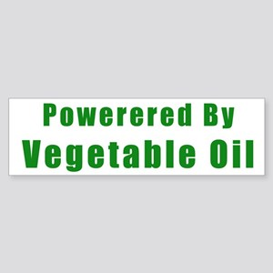 Powered by Vegetable Oil Bumper Sticker