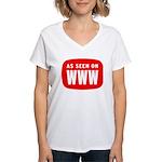 As Seen On WWW Women's V-Neck T-Shirt