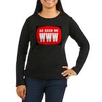 As Seen On WWW Women's Long Sleeve Dark T-Shirt