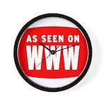 As Seen On WWW Wall Clock