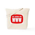 As Seen On WWW Tote Bag