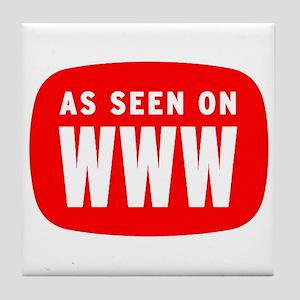 As Seen On WWW Tile Coaster