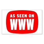 As Seen On WWW Rectangle Sticker