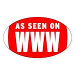 As Seen On WWW Oval Sticker