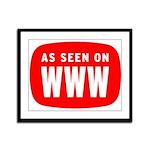 As Seen On WWW Framed Panel Print