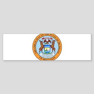 Michigan State Seal Bumper Sticker