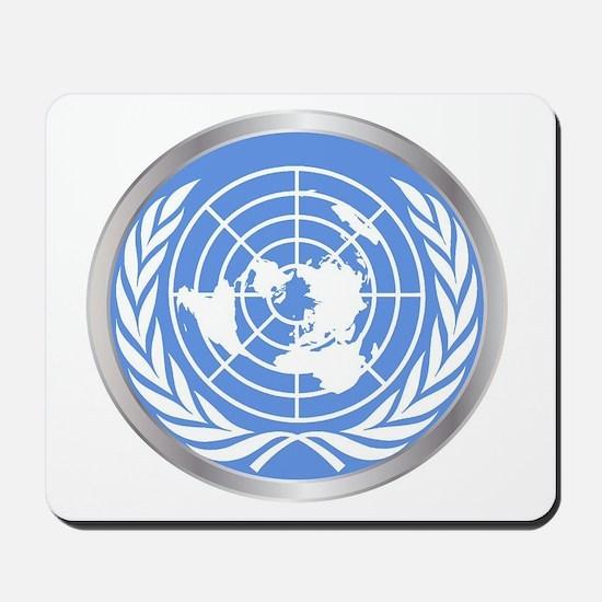 United Nations Emblem Mousepad